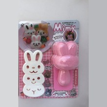 Plastic bento onigiri rabbit japanese sushi Rice Mould with seaweed nori cutter
