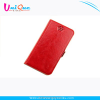 fashion red universal case vertical stand sucker leather phone case cover for samsung galaxy s4