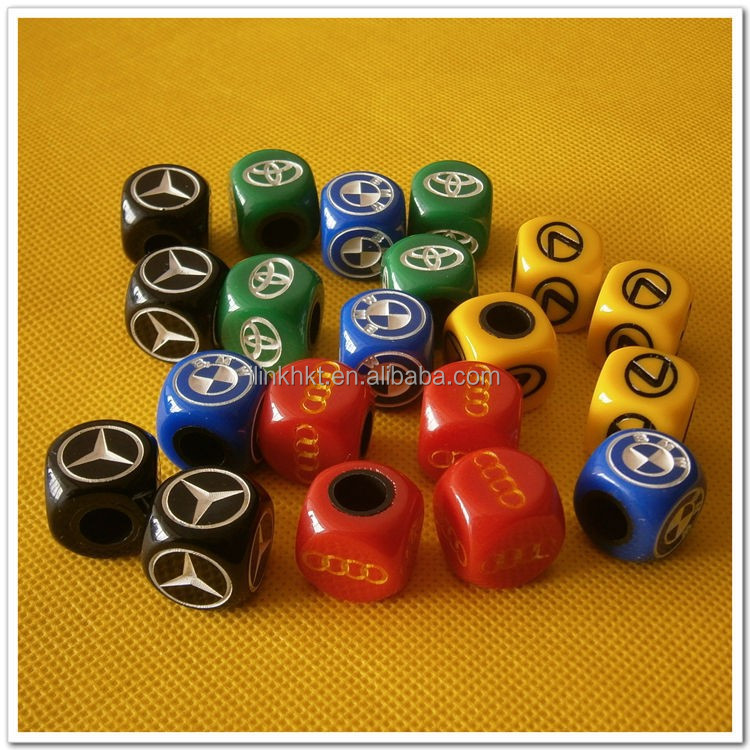 Dice car tire valve cap