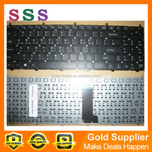 Brand new black RU layout keyboard for CLEVO W650EH notebook/laptop without frame MP-12N76SU-4301