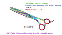 "Pet Grooming & Beauty Hair Stylist Shears, 7"" 20 Teeth Chunker Thinner Shear"