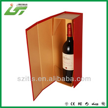 High quality customized folding luxury wine gift box,custom cardboard wine packaging box