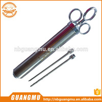 fish marinade seasoning injector with 2 professional needles basting brush automatic meat injectors with great price