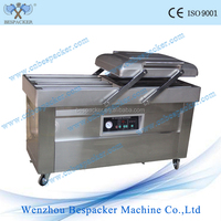 cabbage lettuce semi auto vacuum packing machine with double chambers