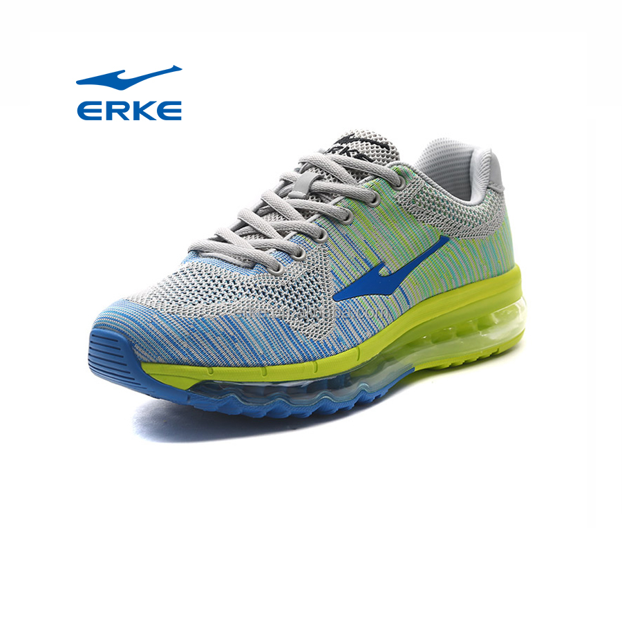 ERKE wholesale hot sales fly knitted mesh max mens running shoes with air cushion
