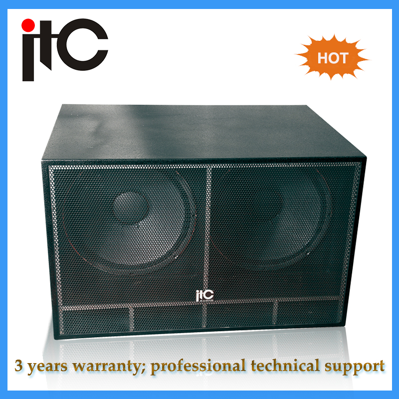 "Top sale Professional dual 18"" Subwoofer speaker box"