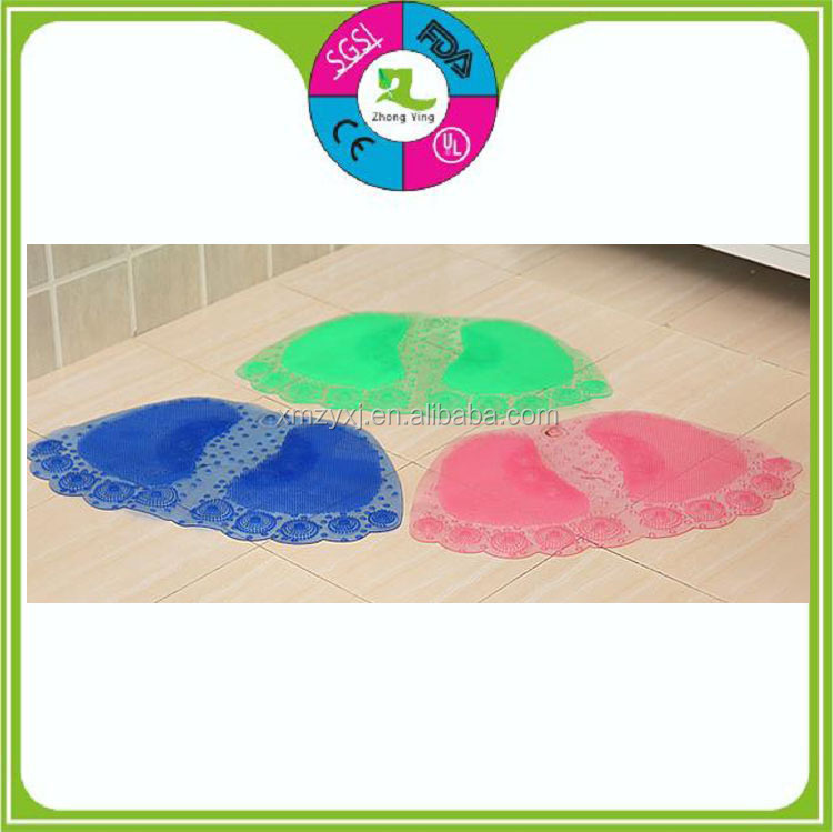 Eco friendly pvc plastic slip-resistant kitchen bathroom waterish foldable floor mat with suction