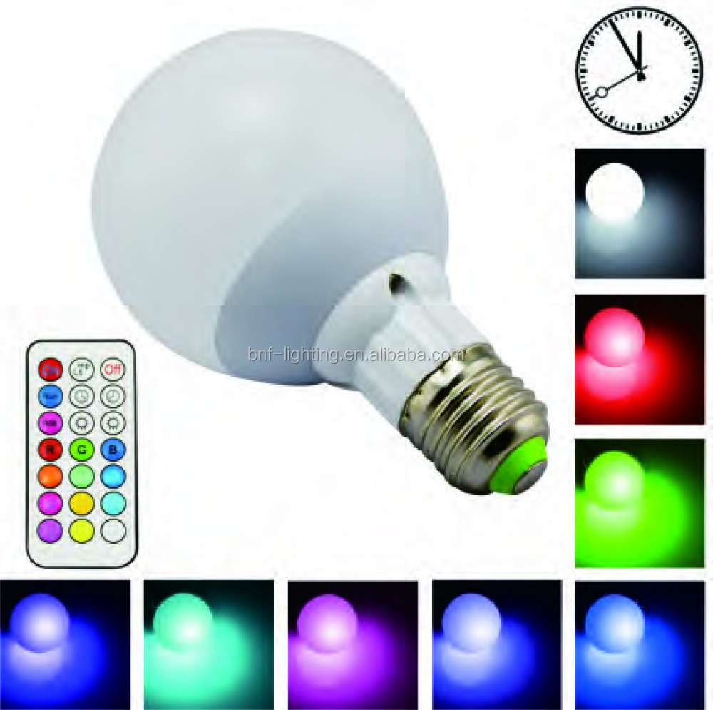 3W 5W 7W 9W E14 E17 smart led light <strong>bulb</strong> color with REMOTE CONTROL