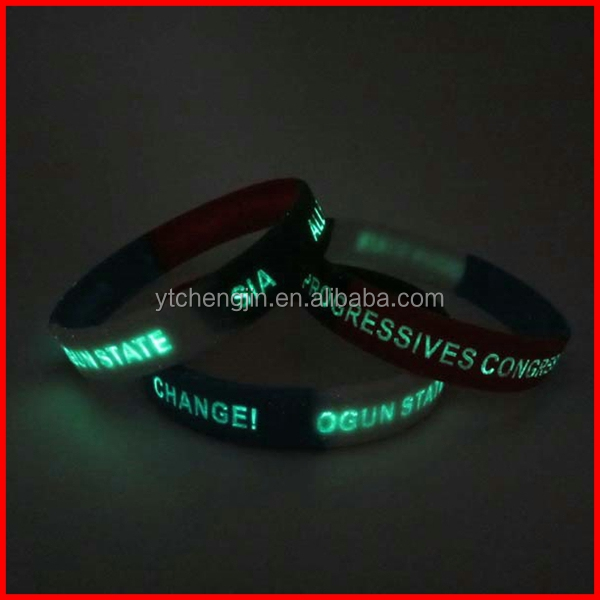 luminescent silicone wristband export to Europe and America high quality