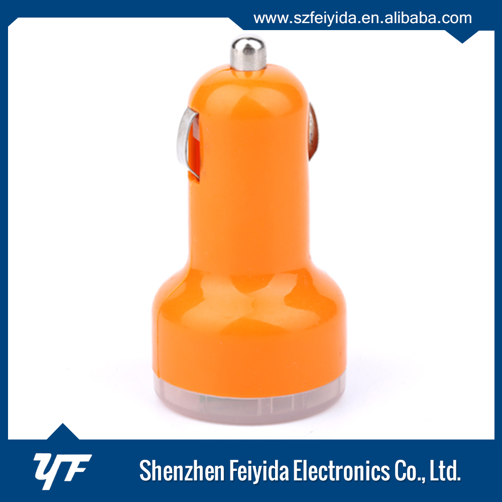 2016 Shenzhen new technology promotional usb mobile phone car charger with 12v - 24v