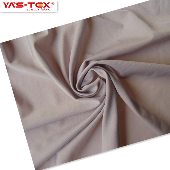 88% <strong>nylon</strong> 12% spandex knitted tan through swimming underwear T-shirt fabric