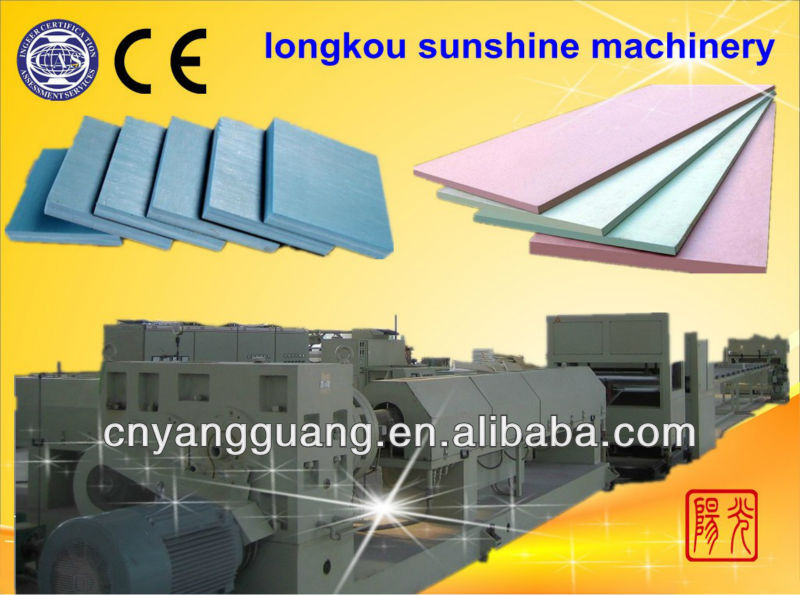 CO2 polystyrene outside wall heat preservation plate extrusion machinery