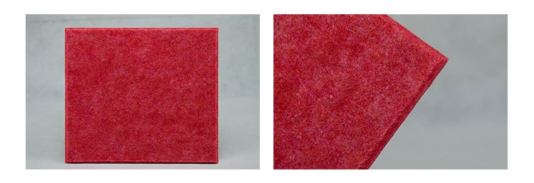 Fireproof decorative auditorium fiberglass fabric acoustic panel