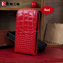 Most popular crocodile grain leather case for iphone6
