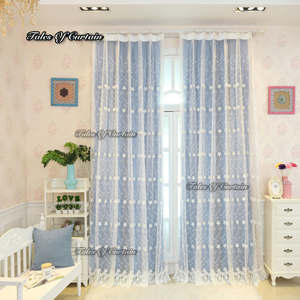 Sky blue design factory in China door decorative curtain