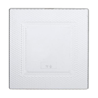 9.5'' Disposable Crystal Plastic Square Plate