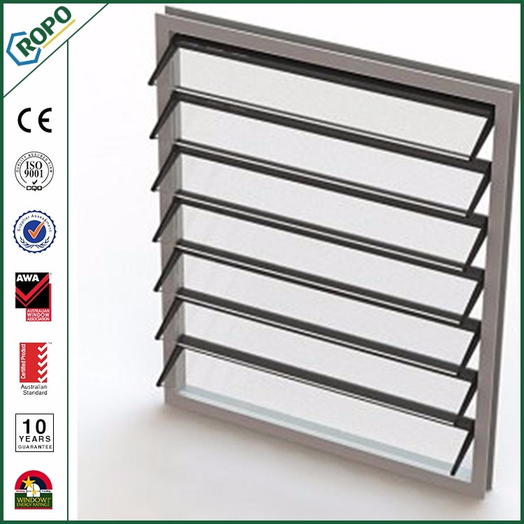 Wholesale low price insulated glass movable aluminum louver shutter