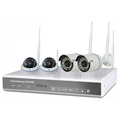 4 cameras WIFI surveillance Network system 960P 3.6 mm lens Camera connect to NVR automatically via WIFI no other settings