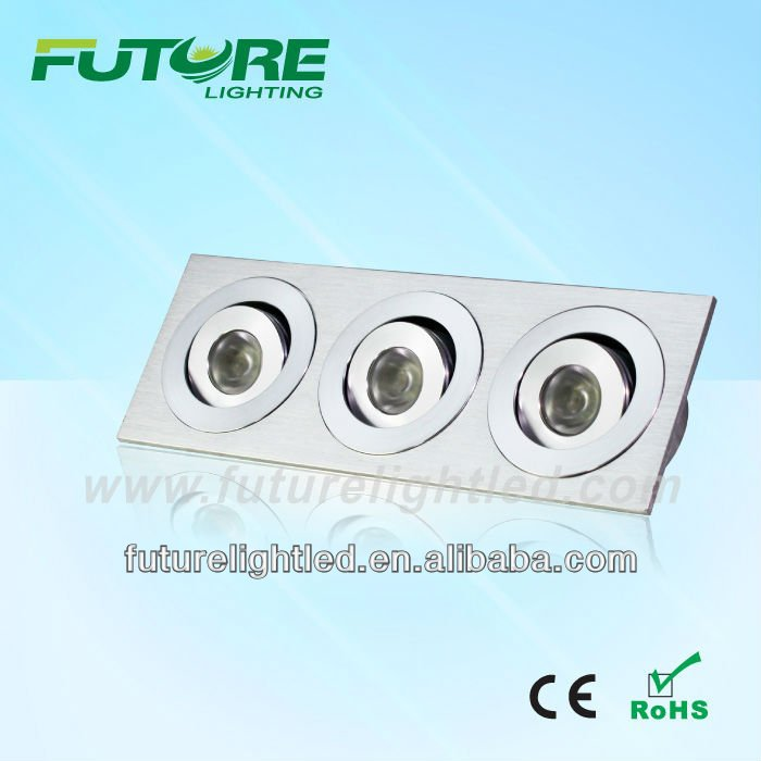 new products on china market CREE Ceiling light rectangular recessed LED downlight