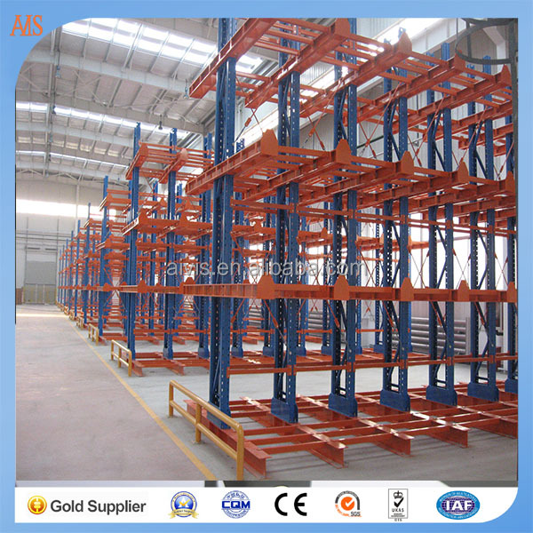 Inclined Warehouse racking cantilever shelving with CE approval