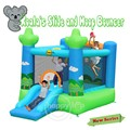 Happyhop Inflatable Bouncer-9031 Koala's Slide and Hoop Bouncer