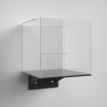 Clear Cube Storage Shelf wall mounted acrylic display box