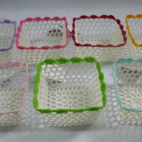 Crochet Mini Basket Square