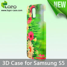 2014 High quality sublimation 3D phone case for Samsung S5