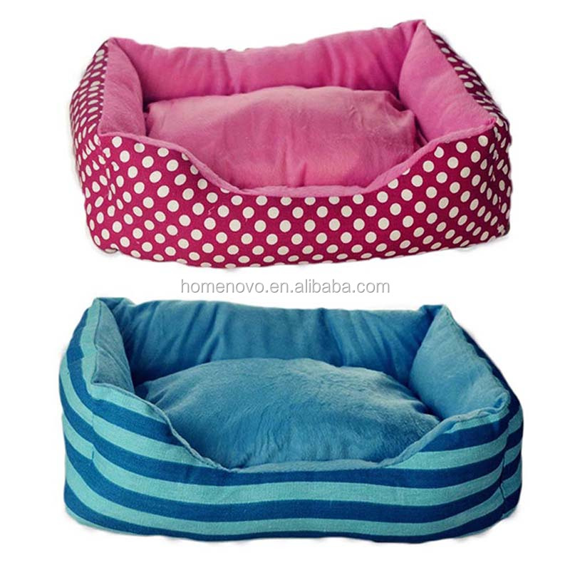Removable Mat Sofa Dog Cat Bed Cushion With Bone Pillow Blankets Three Pieces Set