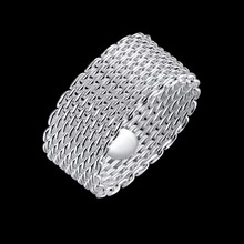 Silver round weave new model ring new design 6 gram ring for women ring de boxe occasion C030