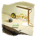 Foldable LED Table lamp red oak wood reading desk lamp Dimmable 360 degree adjustable