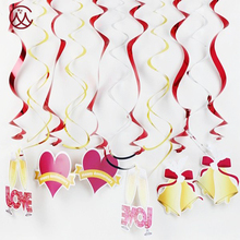 New arrival anniversary girl hanging swirl party decoration sets