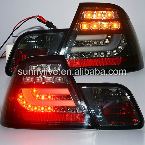 2003-2005 year For BMW E46 2 doors 320 328 325 330CI LED Tail Lamp Rear Lights Smoke Black Color SN