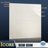 Made in China 600x600 double coated charge nano vitrified polished 36''x36'' marble ceramic porcelain floor tile