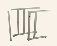 rectangular table leg metal office table leg