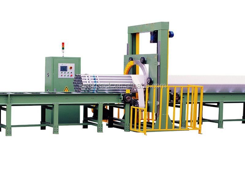 Steel Tube Profile PE Stretch Film Orbital Horizontal Wrapping Machine