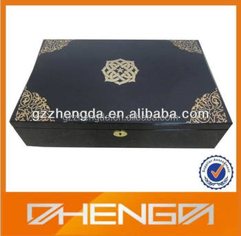 High quality customized Arabic Gift Box with Metal logo