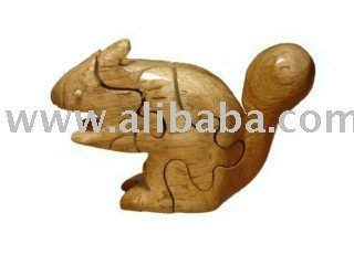 3d wooden puzzle_Squirrel