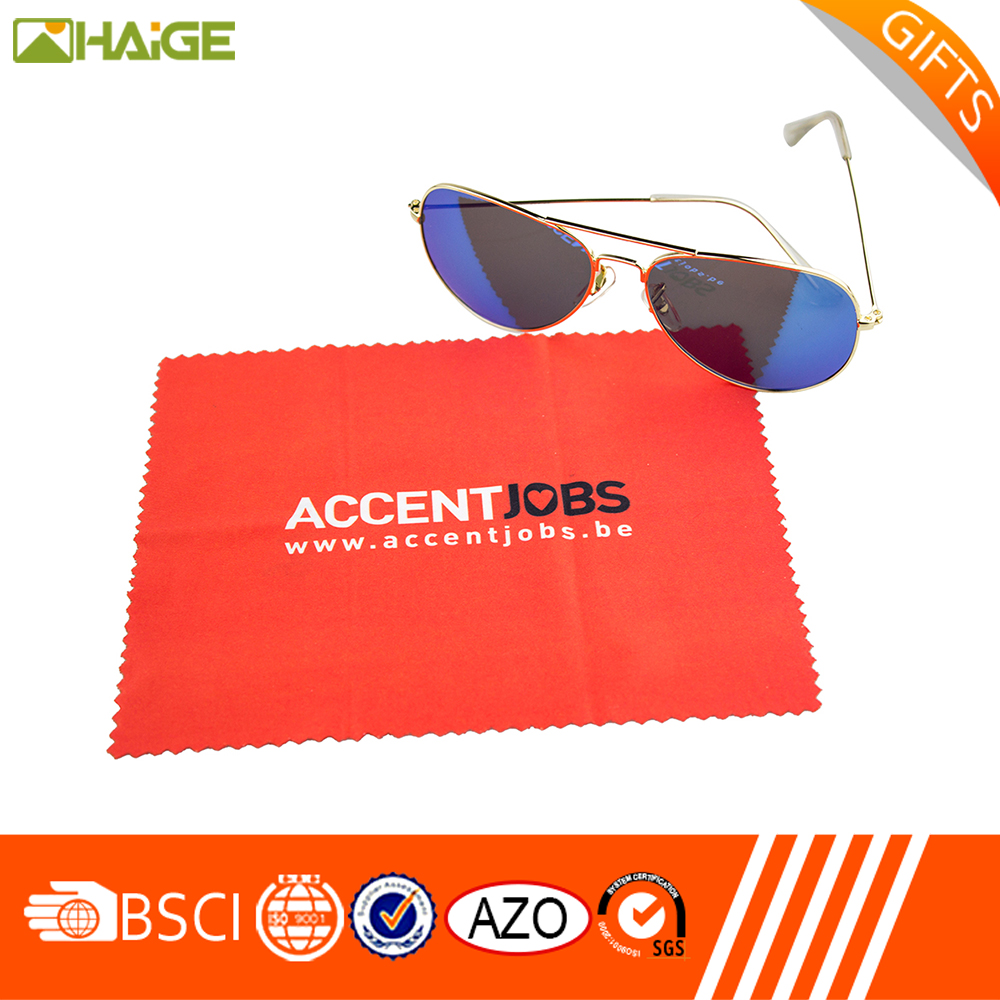 New product 100% Polyester custom sublimation printed microfiber glasses cleaning cloth with A Discount