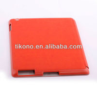 new super elegant clear book style folding leather case for ipad4