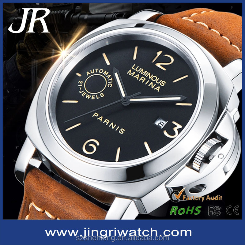 2016 Rose Gold big face Luxury sapphire swiss watches men luxury brand automatic military watch