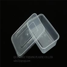 restaurant microwave safe food container 650ml plastik