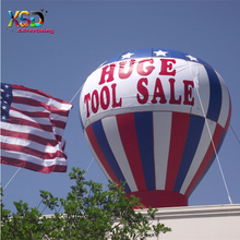 inflatable american flag ground balloon / advertising rooftop balloon