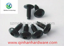 Black Zinc galvanized truss head six-lobe machine screw