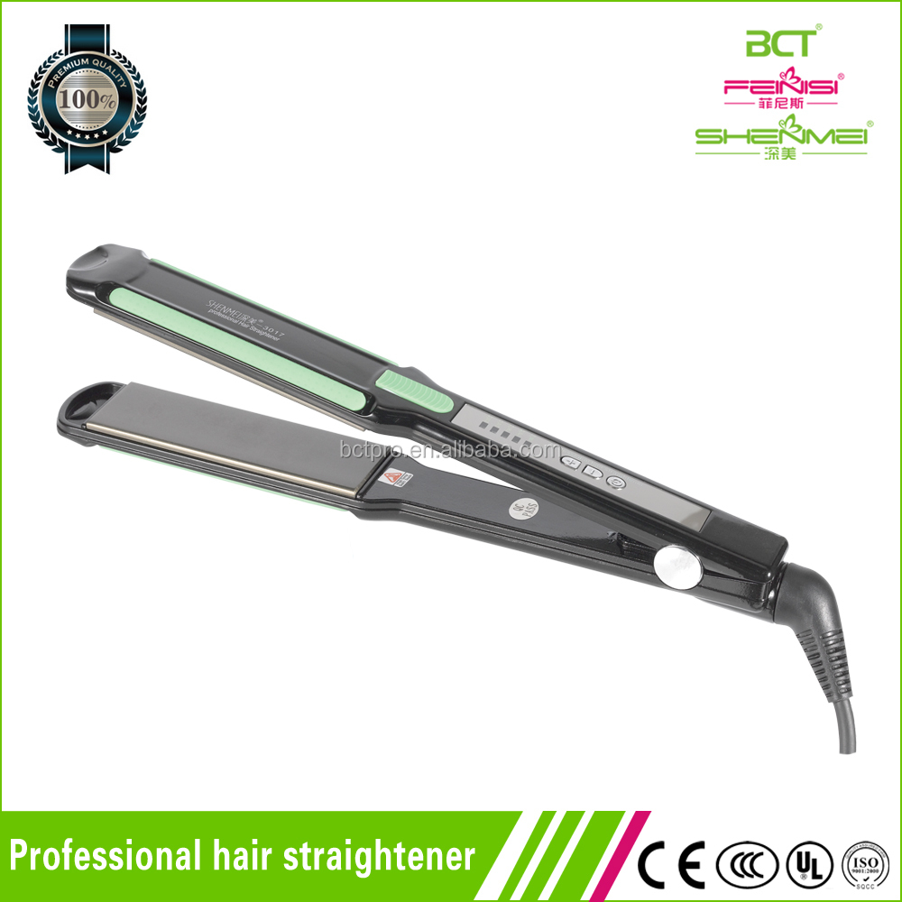 Fashion Element Electric Hair Straightener With Silicone Strip LED Temperature Display