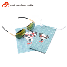 Eco friendly drawstring pouch bags and microfiber cloth set for sunglasses