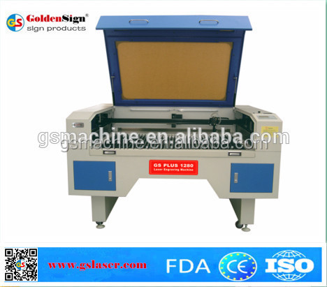 hot sale co2 laser engraving cutting machine for pvc, wooden, plastic, leather, metal with honeycomb table