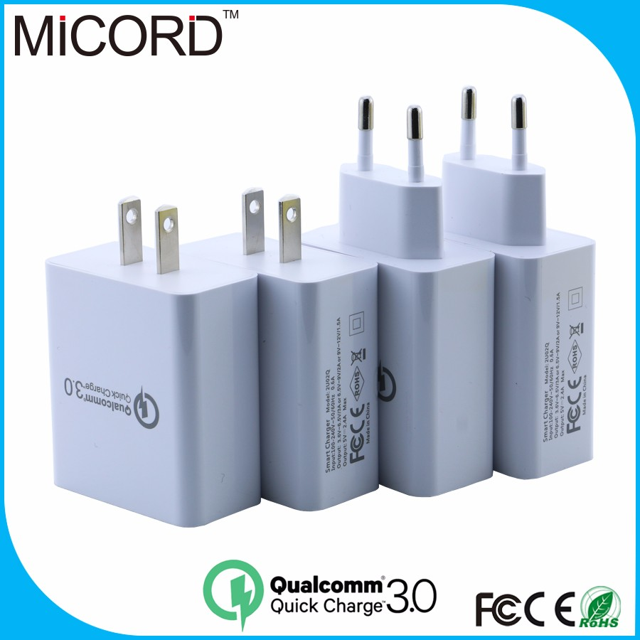 wholesale Qualcomm Quick Charge 3.0 micro usb wall charger for Samsung