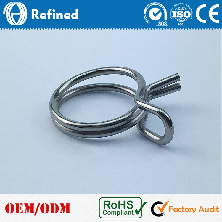 China Manufacture Aliexpress stainless steel double wire spring clamp