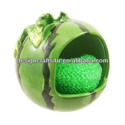 Watermelon Design Ceramic Kitchen Sponge Holder of Fruit Shaped